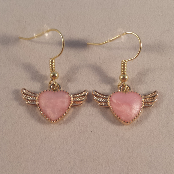 Wing earrings Pink
